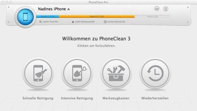 PhoneClean - Reinigungs-Tool für iPhone, iPad und iPod