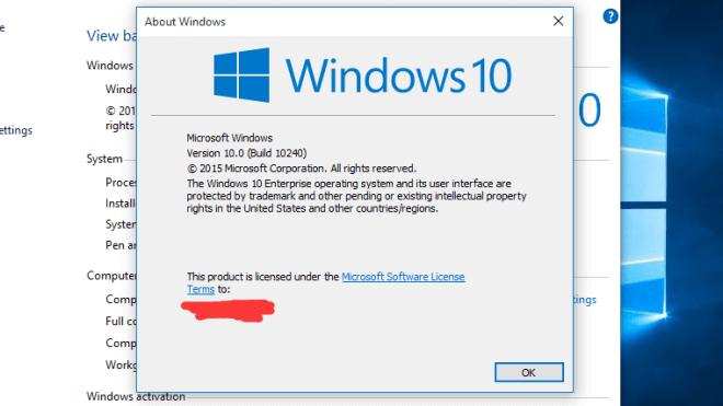 prüfen welche windows version
