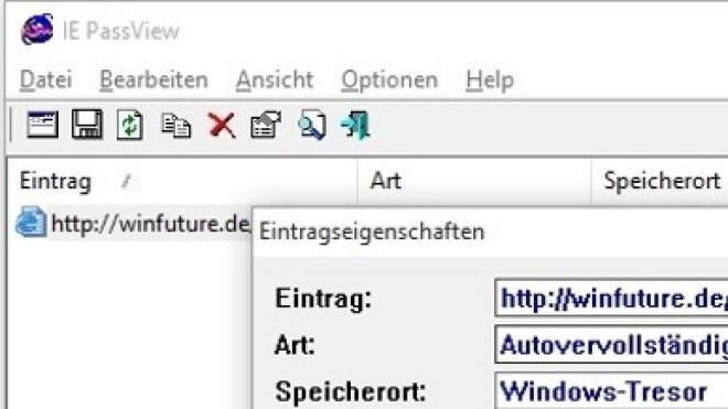 Passwörter Auslesen Internet Explorer