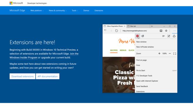 Microsoft Edge Erweiterungen Legen Per Webseite Einen Fruhstart Hin Winfuture De