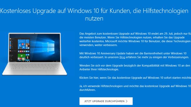 Windows 10: Per Trick bekommt man das kostenlose Upgrade immer noch