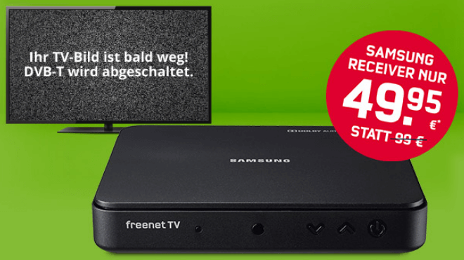 FreenetTV: DVB-T2-Receiver 40€ günstiger + 4 Monate Gratis HD