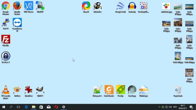 verknüpfungen verschwinden vom desktop