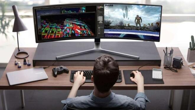 2 Displays In 1 Samsung Stellt 49 Zoll Monitor Im 329 Format Vor
