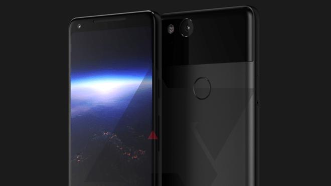 So würde das Google Pixel 2 XL in Blau und Silber aussehen