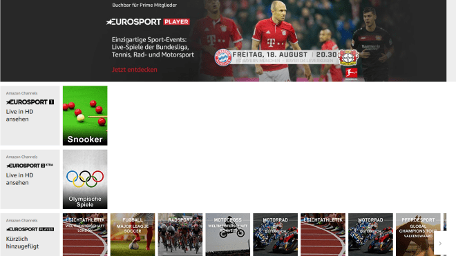 Prime-Kunden erhalten Fußball-Bundesliga für 5 Euro im Monat