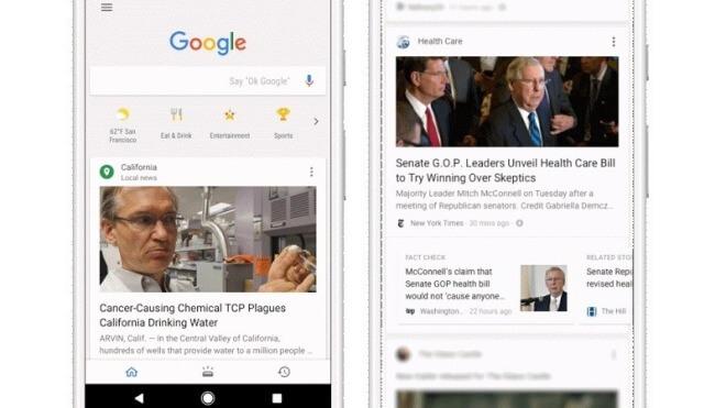 Google Feed geht in Deutschland an den Start