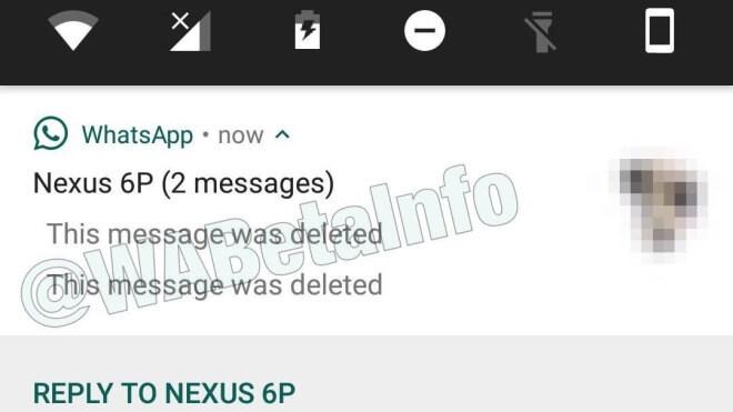 Nur ein häkchen bei whatsapp nachricht löschen