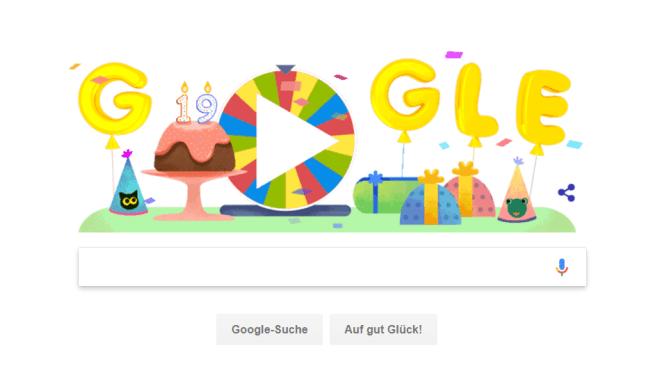 Google Geburtstagsüberraschung - was hinter dem Doodle steckt