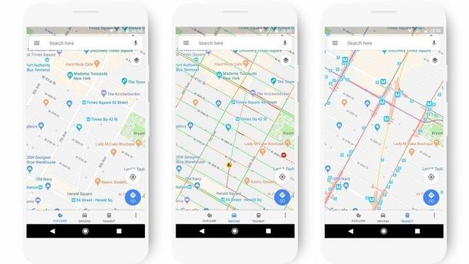 Google Maps bekommt neue Optik, vor allem bei Farben und Symbolen ...