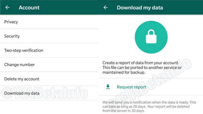 Datenschutz Privatsphäre Nutzerdaten whatsapp Whatsapp BetaBildquelle Wabetainfo
