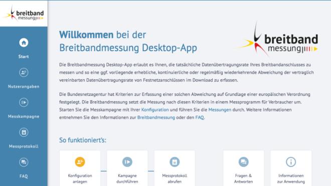 Breitbandmessung der Bundesnetzagentur als Desktop-App verfügbar