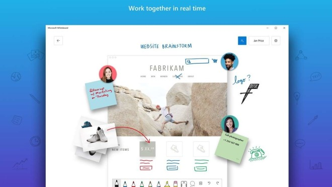 Microsoft Whiteboard: Update bringt Mail-Zusammenfassungen mit sich