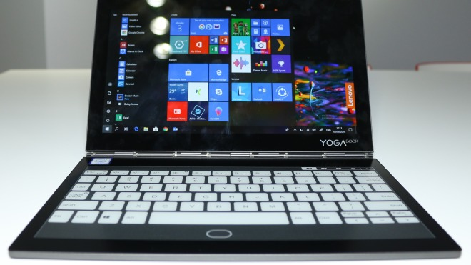 Windows 10, Tablet, Notebook, Lte, Test, Lenovo, Hands-On, Ifa, Hands on, 2-in-1, Convertible, Konzept, E-Ink, Dualcore, IFA 2018, EInk, Courier, Yoga Book, Intel Core m3-6Y30, C930, Intel Core i5-7Y54, Lenovo Yoga Book C930, EInk Mobius
