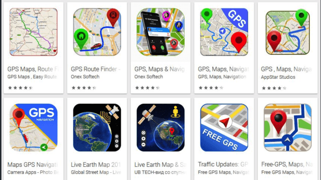 Maps App Store on