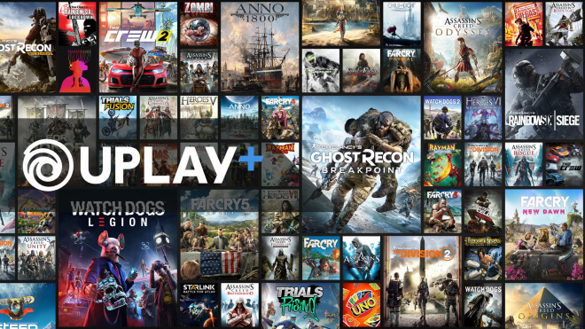 Gaming, Spiele, Games, Ubisoft, Assassin's Creed, Abo, Abonnement, Flatrate, Google Stadia, PC-Spiele, Uplay, The Division 2, Game Pass Ultimate, Ghost Recon Breakpoint, Uplay+, Online-Service, windows pc, Origin Access Premier