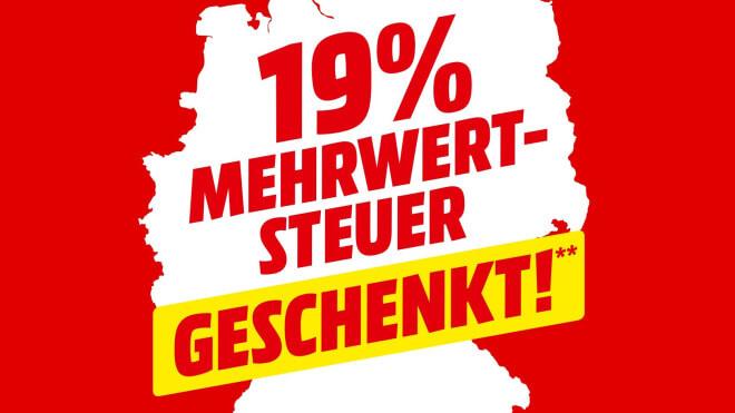 Media Markt Aktion: 19 Prozent Mehrwertsteuer auf alle Artikel geschenkt!
