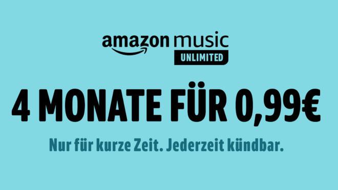 Amazon Music Unlimited: 4 Monate für nur 99 Cent