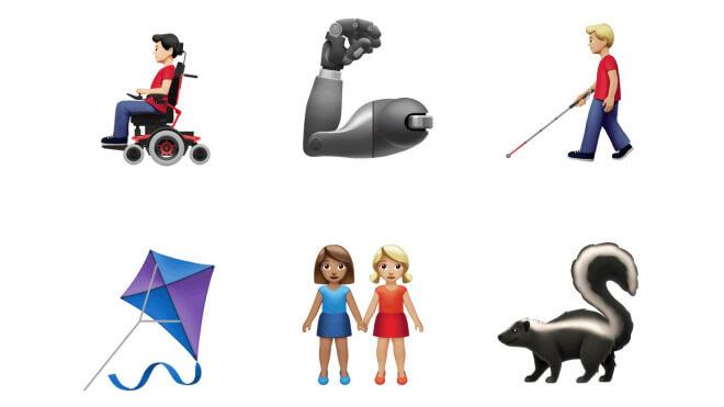 Apple und Google präsentieren neue Emojis: Von Faultier bis Blindenhund