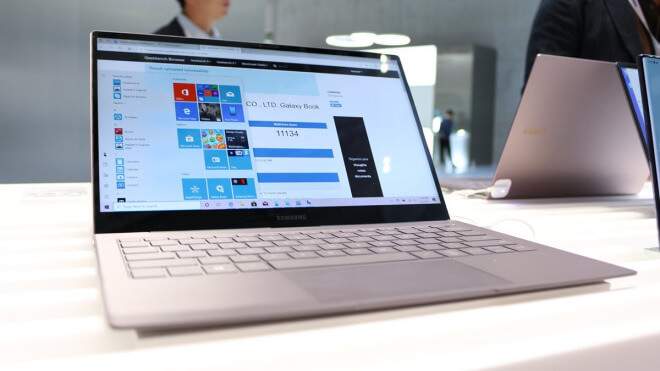 Samsung, Notebook, Cpu, Laptop, Galaxy, Test, SoC, Hands-On, Qualcomm, Ifa, Hands on, Snapdragon, Review, Benchmark, Windows 10 on ARM, IFA 2019, Geekbench, WoA, Qualcomm Snapdragon 8cx, Samsung Galaxy Book, Samsung Galaxy Book S, Galaxy Book S