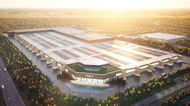 Tesla factory near Berlin: drone footage shows huge progress